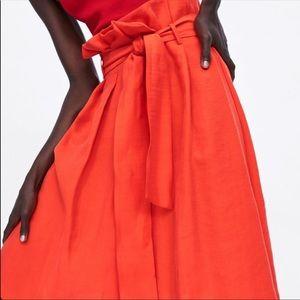 Zara paperbag midi skirt